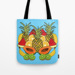 Turquoise Tropical Fruit Tote Bag