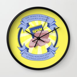 The Spam of Enlightenment Wall Clock