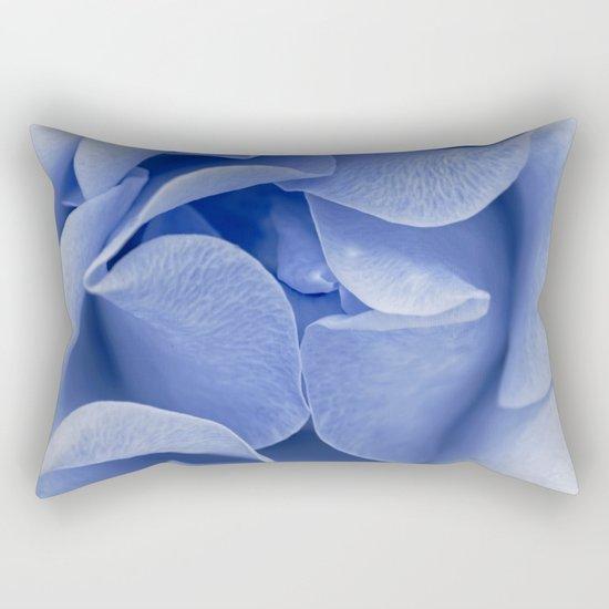 Blue flora Rose Bud- Roses and flowers Rectangular Pillow