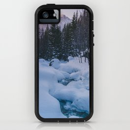 Snow Blankets on Rivers iPhone Case
