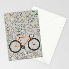 Fixed gear bikes Stationery Cards