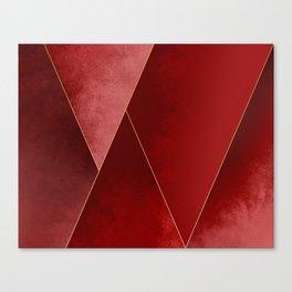 Crimson Tones Canvas Print