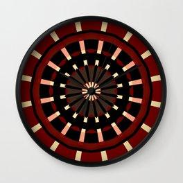 Dart Board Inspired Pattern Design Wall Clock