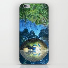 Water pond covered with dense greenery iPhone Skin