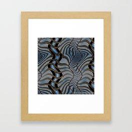 Wavy Seattle Framed Art Print