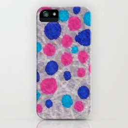 ink napkin polkadots iPhone Case