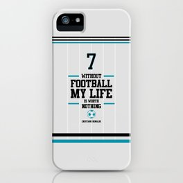 Lab No. 4 - Cristiand Ronaldo's football Inspiration Quotes Poster iPhone Case