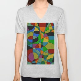 Abstract #94 Unisex V-Neck