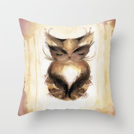 Chutney in a State of Yoga Throw Pillow
