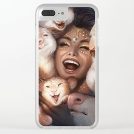 Drowning Joy Clear iPhone Case