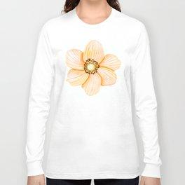 One Orange Flower Long Sleeve T-shirt