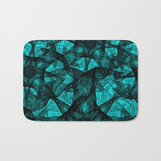 Fractal Art Turquoise G52 Bath Mat