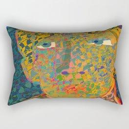 Contemporary David in the Jungle Zone Rectangular Pillow