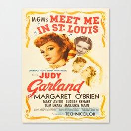 Vintage poster - Meet Me in St. Louis Canvas Print