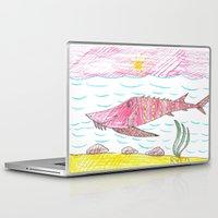 tennessee Laptop & iPad Skins featuring Tennessee Lake Sturgeon by Ryan van Gogh