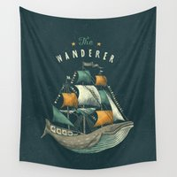 flag Wall Tapestries featuring Whale | Petrol Grey by Seaside Spirit