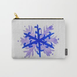 WATERCOLOR SNOWFLAKE 5 - blue and purple palette Carry-All Pouch