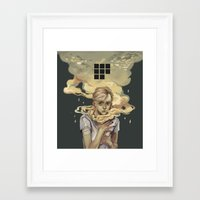 smoke Framed Art Prints featuring Smoke by Arrrkal