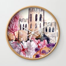 Castle and Coral Wall Clock