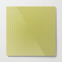 Quatrefoil Lime Metal Print