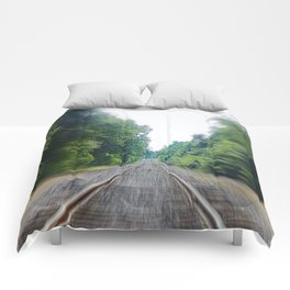 TRAIN TRACKS Comforters