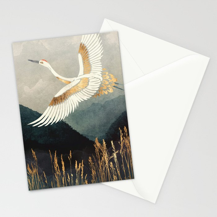 Elegant Flight Stationery Cards