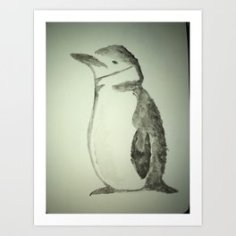 Chinstrap Penguin Art Print