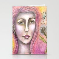 charmaine olivia Stationery Cards featuring Olivia by Art by Sandy & Mariah Gonyea
