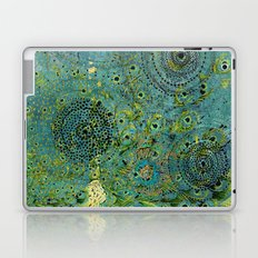 Blue & Green Abstract Art Collage Laptop & iPad Skin