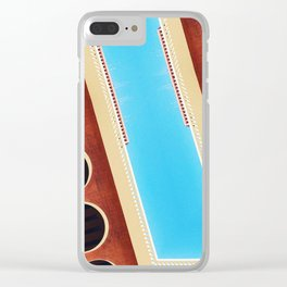 zig zag architecture Clear iPhone Case