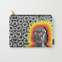 Sculture Wearing Wacky Marble Glasses Carry-All Pouch
