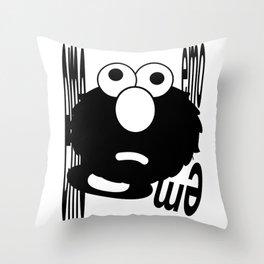 Emo Elmo Throw Pillow