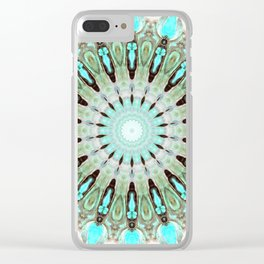 Tropical Floral Mandala Clear iPhone Case