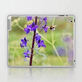 Flying bumble-bee in meadow Laptop & iPad Skin