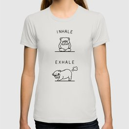 Inhale Exhale English Bulldog T-shirt