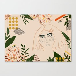 Jungle girl Canvas Print