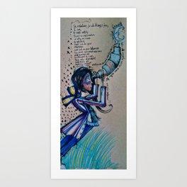 Astronomy Lady Art Print