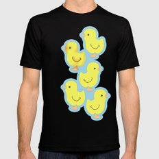 Yellow chick Mens Fitted Tee MEDIUM Black