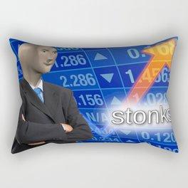 Stonks Meme Rectangular Pillow