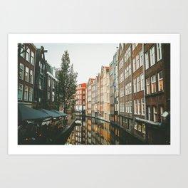 Amsterdam Canals Art Print