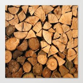 fire wood Canvas Print