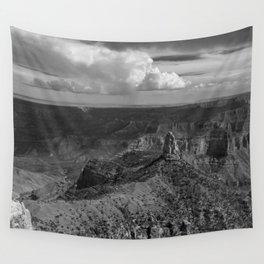North_Rim Grand_Canyon, AZ - B&W II Wall Tapestry