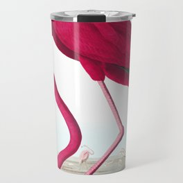 American Flamingo John James Audubon Vintage Scientific Hand Drawn Illustration Birds Travel Mug