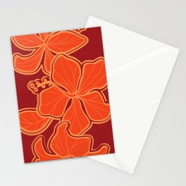 Kailua Hibiscus Hawaiian Sketchy Floral Design Stationery Cards