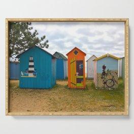 Beach huts Serving Tray