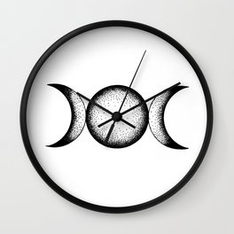 Triple Moon Wall Clock