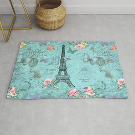 Paris - my blue love Rug