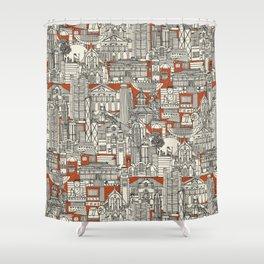 Hong Kong toile de jouy Shower Curtain