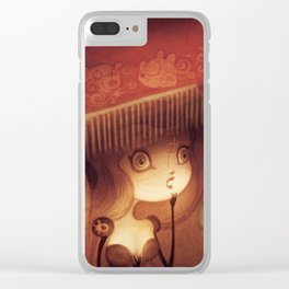 behind the velvet curtain Clear iPhone Case