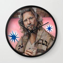 The Dude / The Big Lebowski / Jeff Bridges Wall Clock